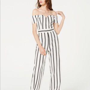 Other - Off the shoulder striped jumpsuit